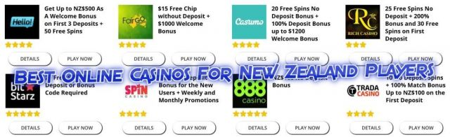 online casinos for New Zealand Players