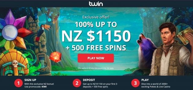 Twin Casino Exclusive New Zealand Bonus