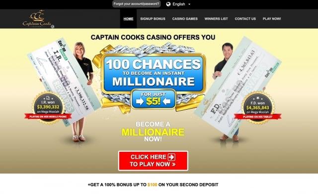 Captain Cooks Casino Preview